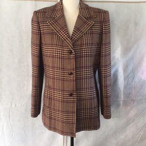 Vintage Oscar de la Renta Plaid Jacket